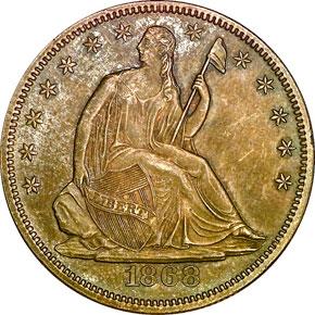 1868 50C MS obverse
