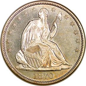 1870 50C MS obverse