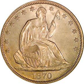 1870 S 50C MS obverse