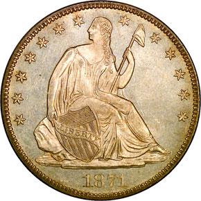 1871 50C MS obverse