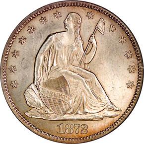 1872 50C MS obverse