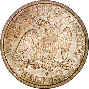 1872 S 50C MS reverse