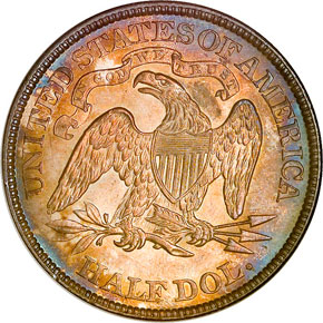 1873 CL 3 NO ARROWS 50C MS reverse
