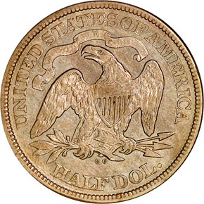 1873 CC NO ARROWS 50C MS reverse