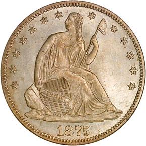 1875 50C MS obverse