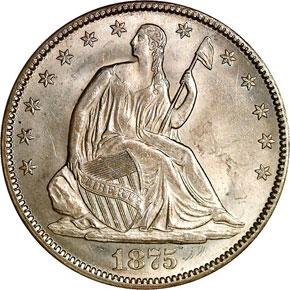 1875 CC 50C MS obverse