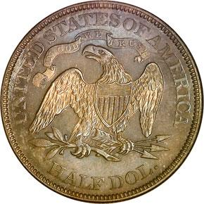 1876 50C PF reverse