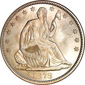 1878 50C MS obverse