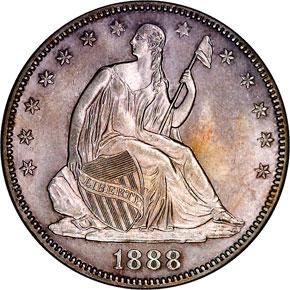 1888 50C MS obverse