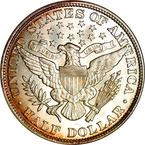 1892 50C MS reverse