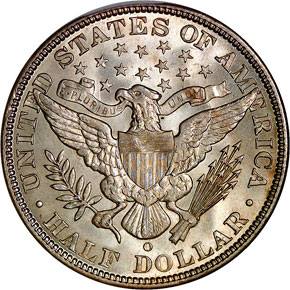 1892 O 50C MS reverse