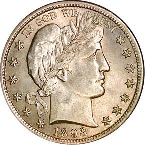 1893 50C MS obverse