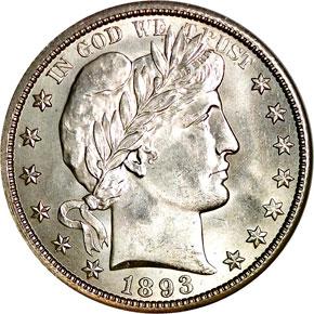 1893 O 50C MS obverse