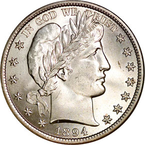 1894 50C MS obverse