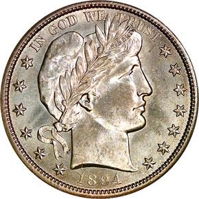 1894 S 50C MS obverse