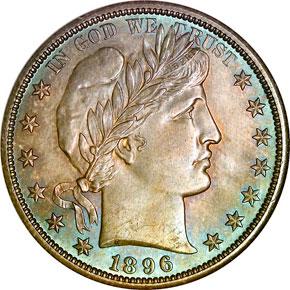 1896 O 50C MS obverse