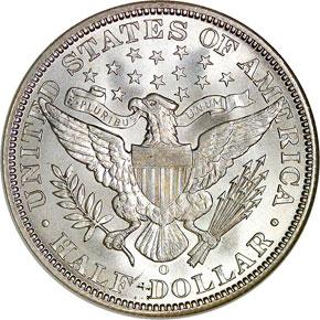 1898 O 50C MS reverse