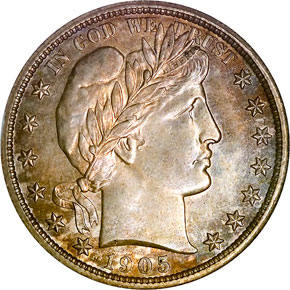 1905 50C MS obverse