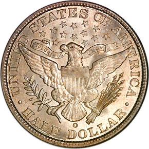 1905 O 50C MS reverse