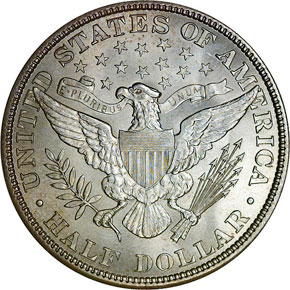 1908 50C MS reverse