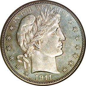 1911 D 50C MS obverse