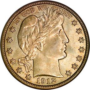 1912 S 50C MS obverse
