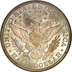 1913 D 50C MS reverse