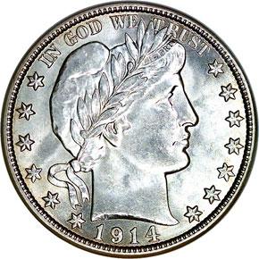 1914 S 50C MS obverse