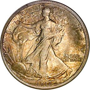 1916 50C MS obverse