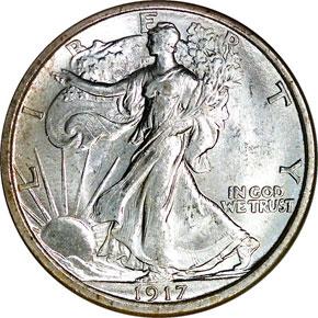 1917 D REVERSE 50C MS obverse