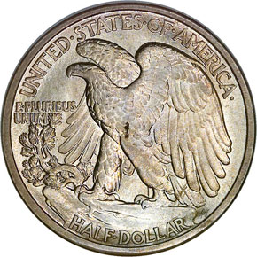 1917 S OBVERSE 50C MS reverse