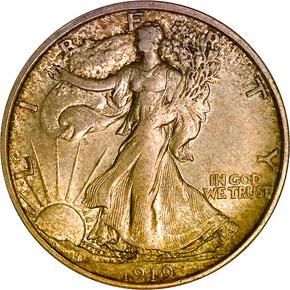 1919 D 50C MS obverse