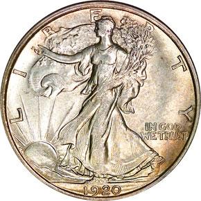 1920 50C MS obverse
