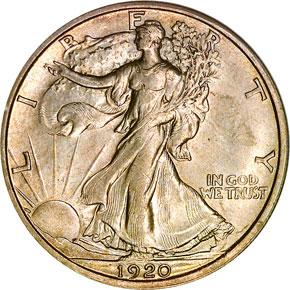 1920 D 50C MS obverse