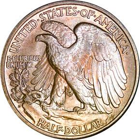 1921 D 50C MS reverse