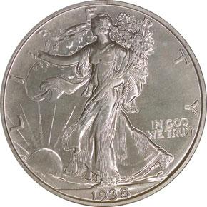 1938 50C PF obverse