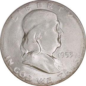 1953 S 50C MS obverse