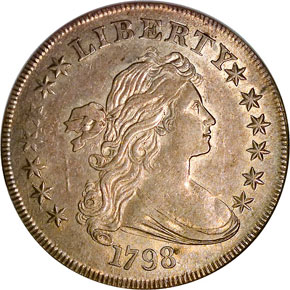 1798 LARGE EAGLE S$1 MS obverse