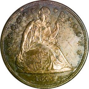 1840 S$1 MS obverse