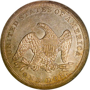 1843 S$1 MS reverse