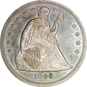 1846 O S$1 MS obverse