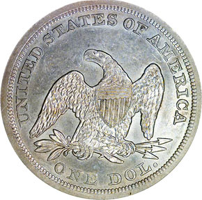 1847 S$1 MS reverse
