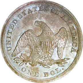 1849 S$1 MS reverse