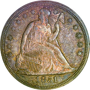 1851 S$1 MS obverse