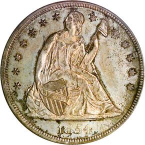1854 S$1 MS obverse