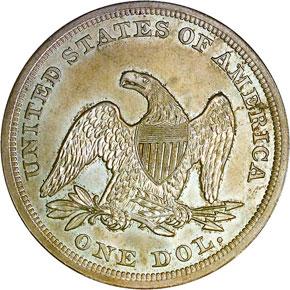 1854 S$1 MS reverse