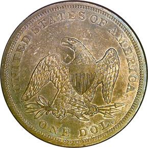1859 S$1 MS reverse