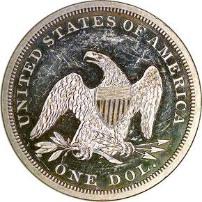 1859 S$1 PF reverse