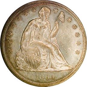 1860 O S$1 MS obverse