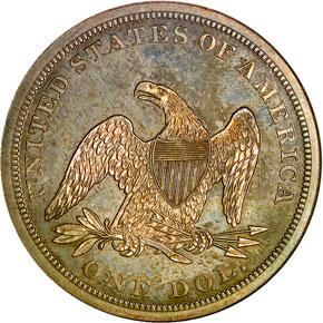 1862 S$1 PF reverse
